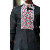 Вишиванка чорного кольору з вишивкою хрестиком
