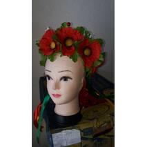 Веночек украинский ''Маки ''(большие цветы)