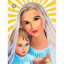 Дева Мария  схема для вышивки бисером