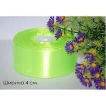 Лента  атласная  салатового  цвета 4см
