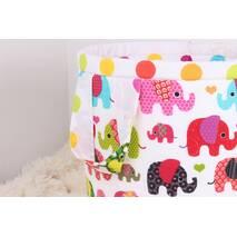 Кошик для іграшок із слониками