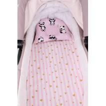 """Набор в коляску для новорожденного """"Розовые Панды"""""""