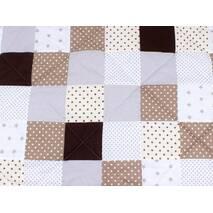 Детское теплое одеяло в бежево-коричневых тонах