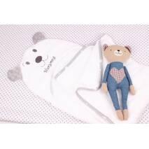 Полотенце для купания мишка детское с вышивкою имени