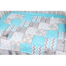 Детское теплое одеяло в голубых тонах