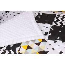 Детское теплое одеяло Чёрно-белое
