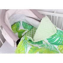 """Комплект в коляску для новорожденного """"Зелёные листья"""""""