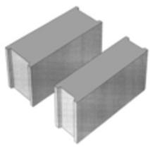 Стіновий бетонний блок ПБ-ПР 15