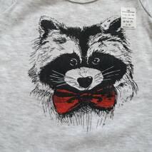 """Боди-футболка с коротким рукавом рибана """"Енот"""""""