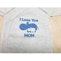 "Комплект ""I love you mom"" (Боди, повзунки і шапочка) TM Merry Bee"
