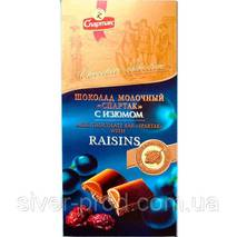 """Шоколад молочный с изюмом 90г """"СПАРТАК"""" (1/24)"""