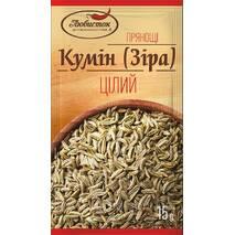 """Кумин целый (зера) """"Любисток"""" 15г (1 * 10/40)"""
