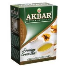 """Чай """"Акбар"""" 100г Зеленый Крупнолистовой (1/30)"""