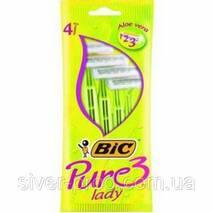 Станок для бритья BIC LADY PURE-3 4шт зелени (1 * 4/20)