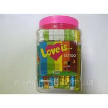 Love is Жевательная конфета Ассорти   TATTOO БАНКА 20г*40шт