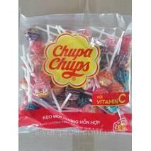 Цукерка на палочці Chupa Chupsі Фруктове Асорті 10г*50шт