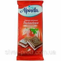 Шоколад Alpinella с клубничной начинкой (Strawberry) 90г (1/22)