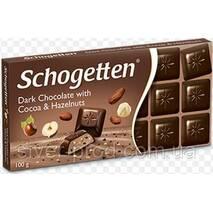 Шоколад черный SCHOGETTEN COCOA & HAZELNUT какао + лисов.горих 100г (1/15)