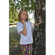 Детские белые футболки для девочек бейка широкая 140