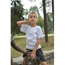 Детские белые футболки для мальчиков бейка широкая 140