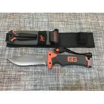 Охотничий нож GERBFR с огнивом и свистком 25 см / АК-210
