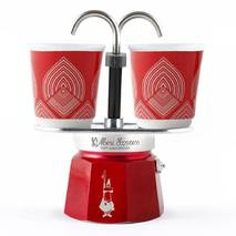 Подарунковий набір Bialetti Set Centenario : гейзерна кавоварка Mini Express (2 cup)    2 кавових скляночки