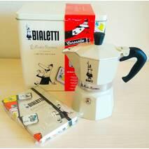 Подарунковий набір Bialetti Carosello - гейзерна кавоварка Moka Express Color (3 cup)    блокнот
