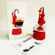 Гейзерна кавоварка Bialetti Omino Express Red (1 чашку - 60 мл)