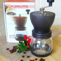 Ручна кофемолка Tiamo Grinder Fat Black з керамічними жорнами і регулюванням рівня помелу