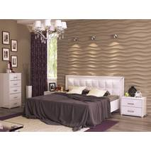 Кровать двуспальная Белла с мягкой оббивкой