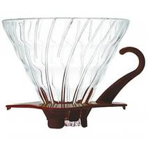 Фільтр-кавоварка Hario V60 01 Glass Dripper (300 мл) Brown