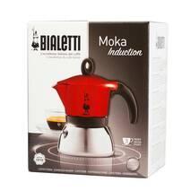 Гейзерная кофеварка Bialetti Moka Induction Red (3 чашки - 170 мл)