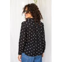 Crep Оригинальная рубашка  с вышитыми горошками - черный цвет, M