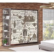 Шкаф купе Лофт стиль в подростковую комнату
