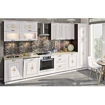 Кухня Кантри с винтажным рисунком на заказ