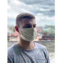 Маска для обличчя захисна багаторазова Барвиста Вишиванка, Батист (80% бавовна, 15% поліестер, 5% еластан) , 22х14х8 см МА001хМ2201