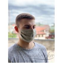 Маска для обличчя захисна багаторазова Барвиста Вишиванка, 100% льон , 22х14х8 см МА002лГ2201_039