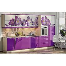 Кухня с фото рисунком на фасадах под заказ