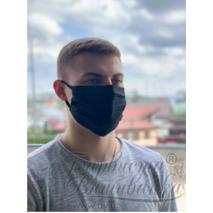 Маска для обличчя захисна багаторазова Барвиста Вишиванка, Батист (80% бавовна, 15% поліестер, 5% еластан) , 22х14х8 см МА001хЧ2201