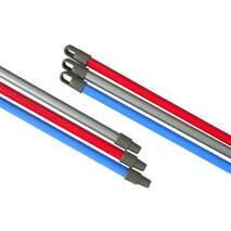 Кий сталевий з пластиковим покриттям, з різьбленням, довжина 110 см Горизонт K - GOR110