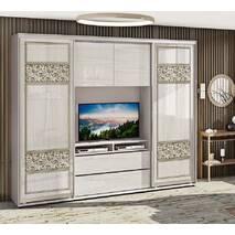 Шкаф купе для спальни с крашенными фасадами Валенсия