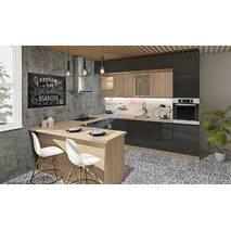 Кухня Хай тек с глянцевыми мдф фасадами