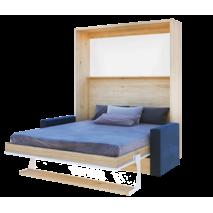 """Шкаф кровать вертикальный з диваном 140*200 см """"Моне"""" Дуб королевський"""