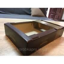 Гофролоток кондитерский 295х195х60 мм с печатью
