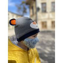 "Дитяча захисна маска для обличчя ""Doggie"" блакитна"