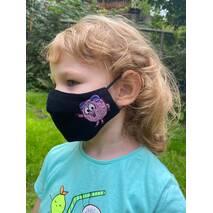 "Дитяча захисна маска для особи ""Бараш""  чорна"