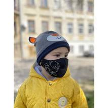 "Дитяча захисна маска для обличчя ""Doggie"" чорна"