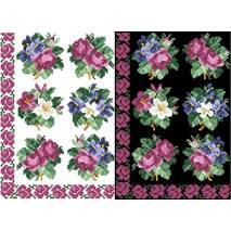 Схема для вишивки бісером на водорозчинному неклейовому флізеліні Барвиста Вишиванка Канва з нанесеним малюнком 20х30 (ФЛ016фн2030)
