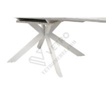Стіл обідній TML-630 глянцевий білий мармур