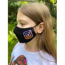"""Підліткова захисна маска для обличчя """"Instagram""""  чорна"""